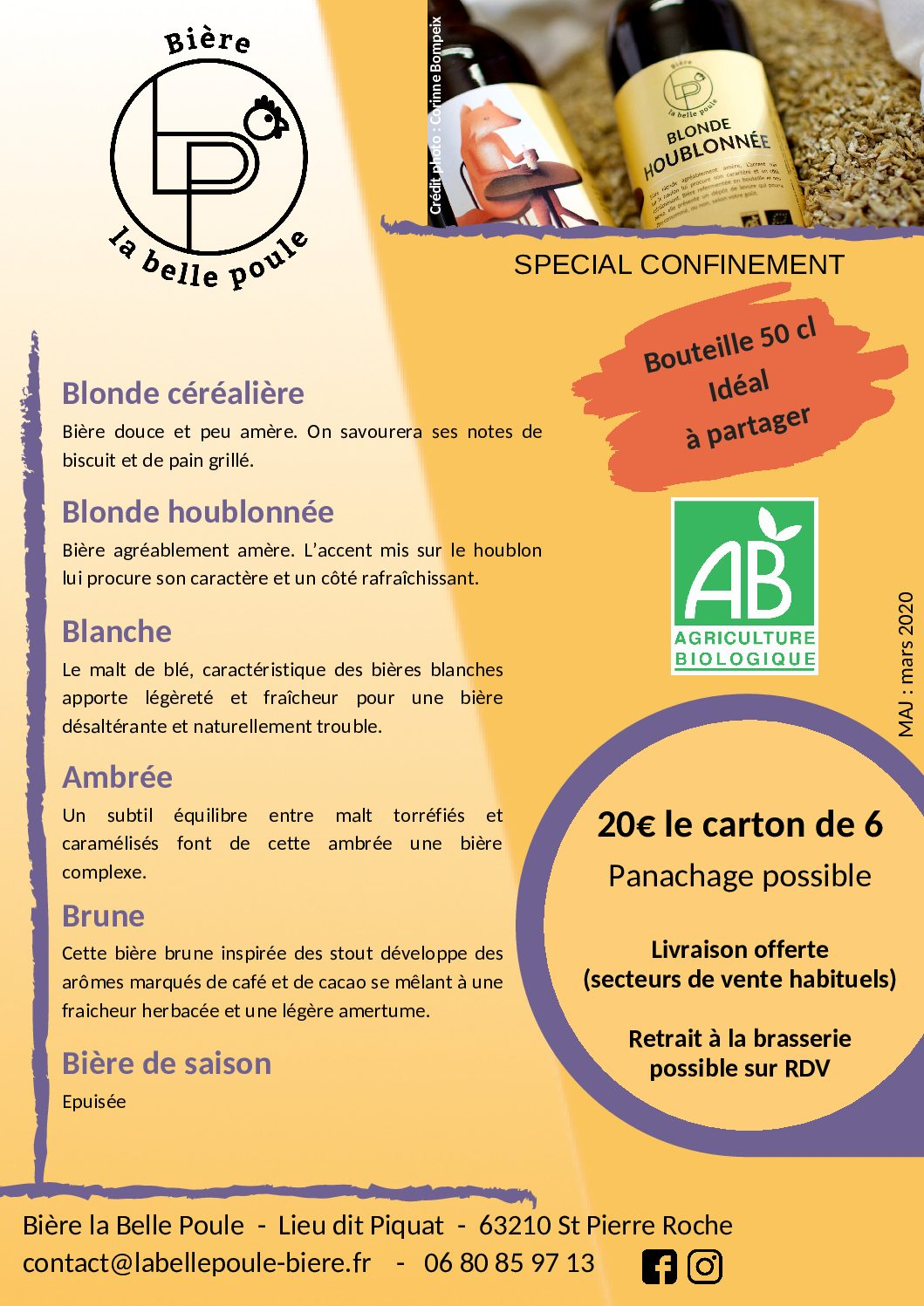 Tarif particuliers COVID